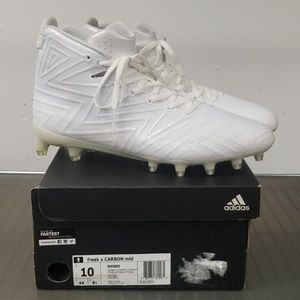 Adidas freak x carbon mid football cleats white on